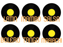Latin Music Genres Vinyl 3 Stock Photo