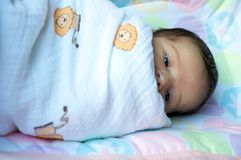 LAtin newborn baby girl Royalty Free Stock Photo
