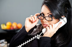 Latin on the phone Royalty Free Stock Images