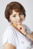 Latin pretty middle aged woman Stock Photography