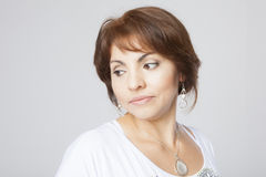 Latin pretty middle aged woman Stock Photo