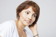 Latin pretty middle aged woman Stock Photos