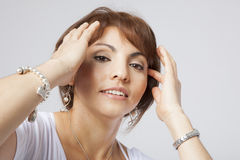 Latin pretty middle aged woman Royalty Free Stock Image