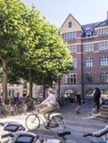 Latin Quarter in Copenhagen, Denmark. Old scandinavian houses, r Royalty Free Stock Photo