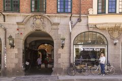 Latin Quarter in Copenhagen, Denmark. Old scandinavian houses, r. COPENHAGEN, DENMARK - SEPTEMBER 5: Latin Quarter in Copenhagen, Denmark. Old scandinavian Royalty Free Stock Image
