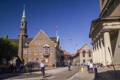 Latin Quarter in Copenhagen, Denmark. Old scandinavian houses, r Stock Image