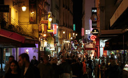 Latin Quarter of Paris, Royalty Free Stock Images
