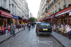 Latin Quarter of Paris Royalty Free Stock Photography
