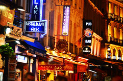Latin Quarter of Paris by night Royalty Free Stock Image