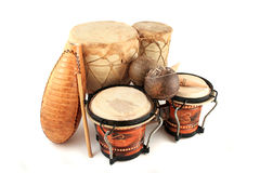 Latin rhythm instruments Stock Photo