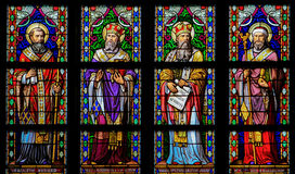 Latin Saints - Stained Glass Window Royalty Free Stock Images