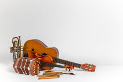 Latin style instruments Stock Photography