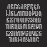 The latin stylization of Old slavic font Stock Photos
