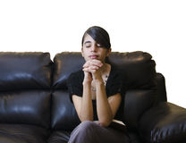 Latin Teenager Girl Having a Daily Devotional Royalty Free Stock Photo