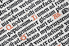 Latin text detail royalty free stock photos