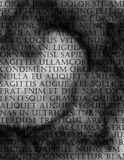 Latin Text Grunge Stock Photo