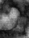 Latin Text Grunge Stock Photo