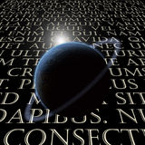 Latin Text with planet Royalty Free Stock Photo