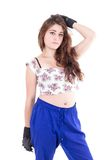 Latin trendy young girl posing Royalty Free Stock Photos
