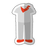 Latin typical costume male. Vector illustration design Stock Photos
