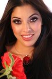 Latin Woman. Portrait of beautiful hispanic woman Royalty Free Stock Image