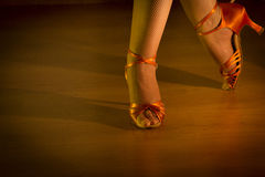 Latin woman dancing feet Royalty Free Stock Photography