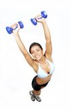 Latin woman fitness stock images