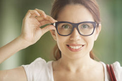 Latin woman with glasses Royalty Free Stock Images