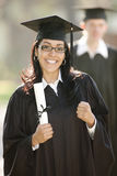 Latin Woman Graduate stock photography