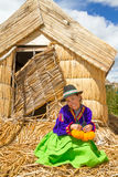 Latin woman in national clothes. Peru. s. america Stock Photo
