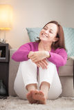 Latin woman relaxing at home Royalty Free Stock Image