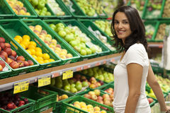 Latin woman shopping Stock Photos