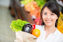 Latin woman shopping Stock Photography