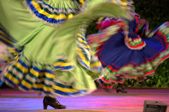 Latin women spectacular dancing Royalty Free Stock Images