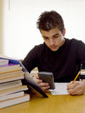Latin Young Boy Studying Royalty Free Stock Photo