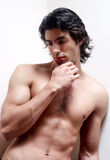 Latin young man without a vest Royalty Free Stock Images