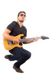 Latin young musician with electric guitar Royalty Free Stock Image