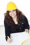 Latin young woman working Stock Photo