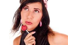 Latina с конфетой Стоковые Изображения RF