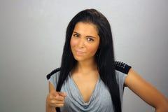 Latina adolescente pernicioso bonito Fotos de Stock