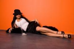 Latina atractiva foto de archivo libre de regalías