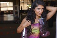 Latina Beauty Boxing Royalty Free Stock Photo