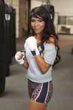 Latina Beauty Boxing Royalty Free Stock Photography