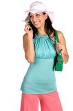 Latina Cell Phone Stock Photography