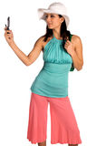 Latina Cell Phone Stock Images