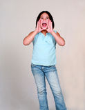 Latina Child Yelling Royalty Free Stock Image