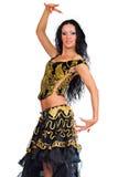 Latina dancer. Beautiful woman isolated Stock Photography