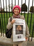 Latina för Obama Arkivbild