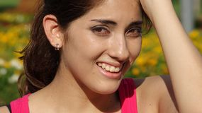 Latina Female Memory Problems. A pretty young Peruvian adult female royalty free stock photos