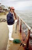 Latina Fisherwoman Stock Image